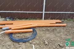 Трубы Пвх для подключения септика к канализации, труба пнд для кабеля электроснабжения
